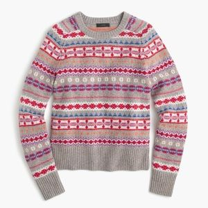 J. Crew Holly Fair Isle Sweater